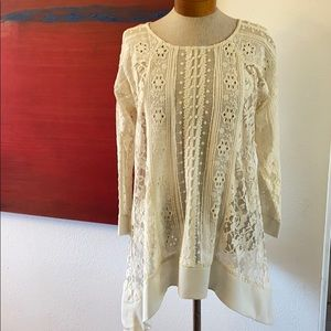 Sheer Sundance lace top
